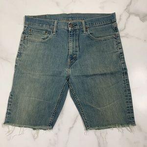 Levis 511 skinny custom cutoff denim shorts 36x32